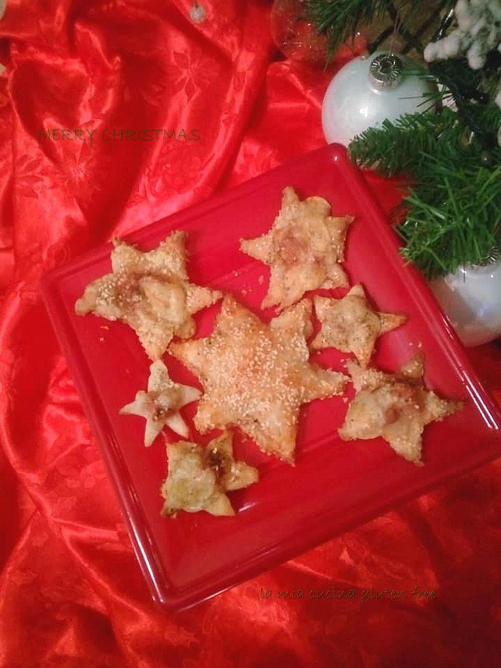 stelle di sfoglia senza glutine con sesamo