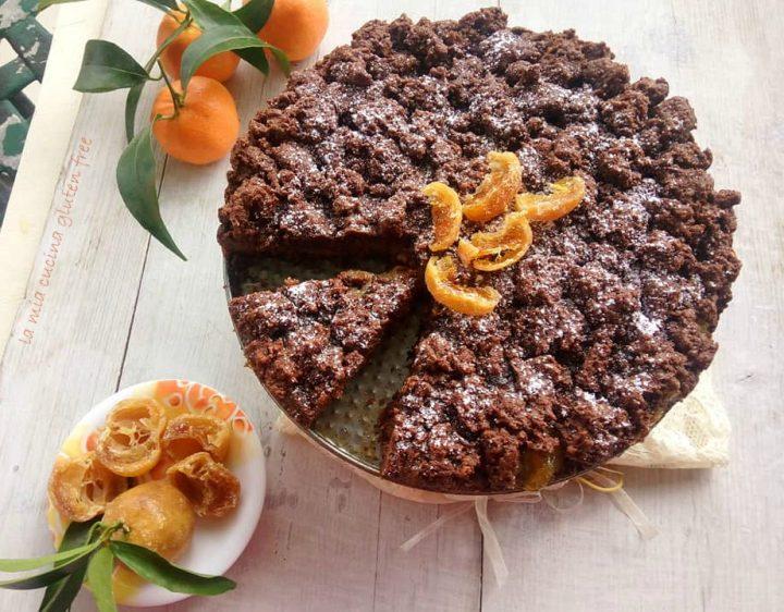sbrisolona cioccolato e mandarini senza burro e senza glutine