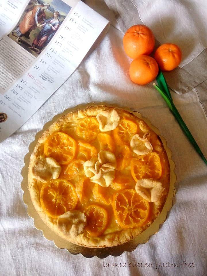 crostata crema e mandarini senza glutine