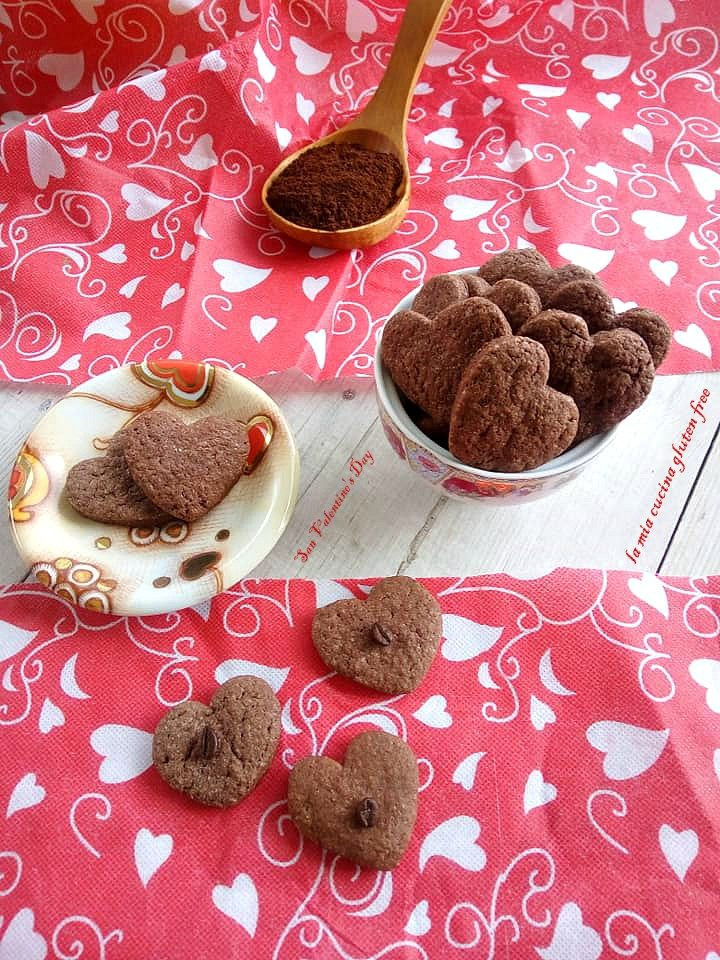 frollini cuori di caffè senza glutine san valentino
