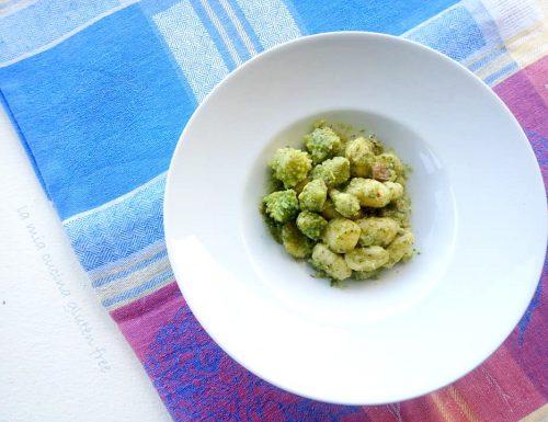 Gnocchi con broccoli romani