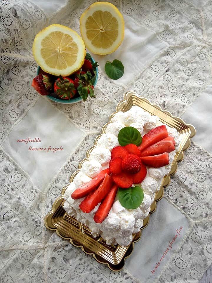 semifreddo limone e fragole gluten free
