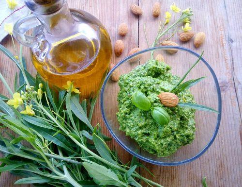 Pesto di rucola basilico e mandorle