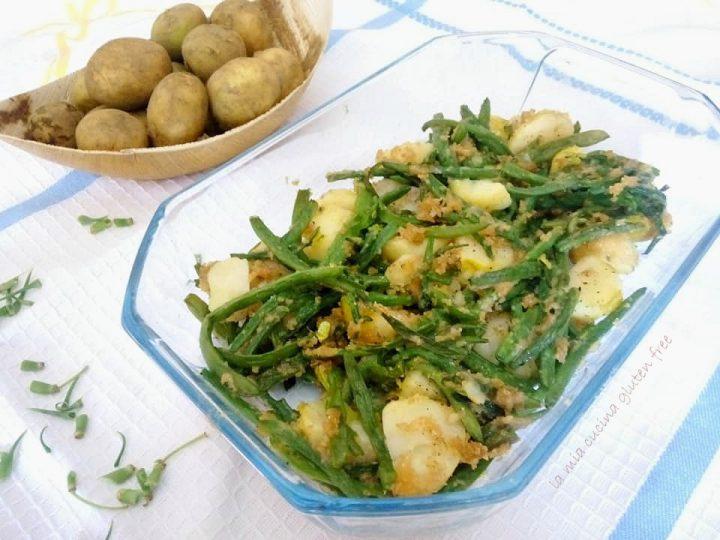 fagiolini e patate gratinati con aromi
