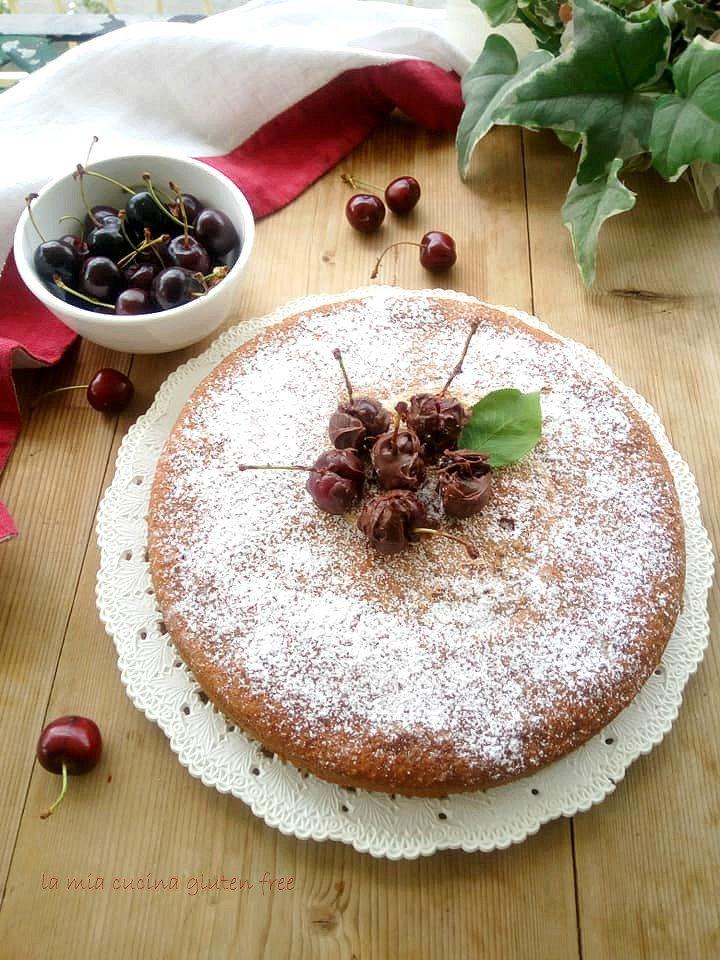 torta margherita senza glutine con ciliegie
