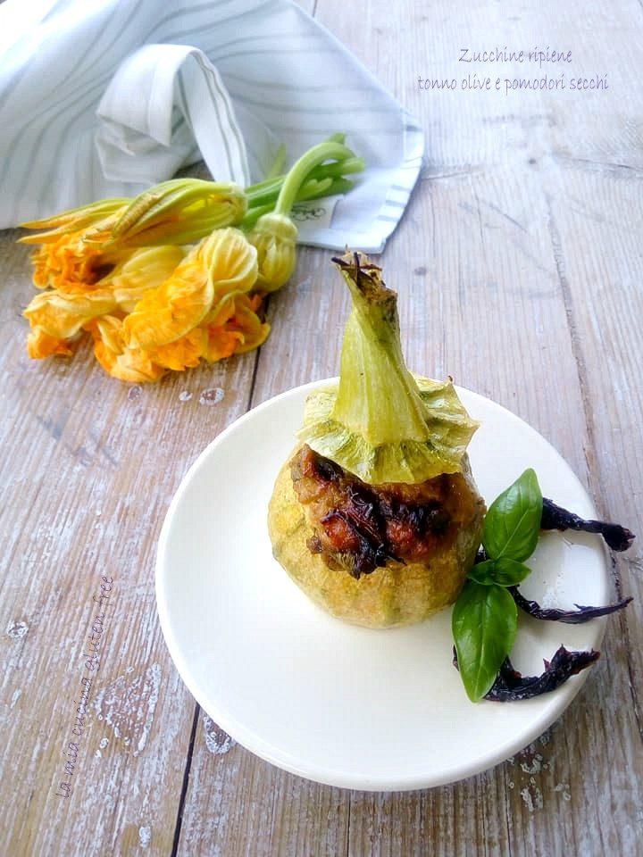 zucchine ripiene al forno con tonno olive e pomodori secchi