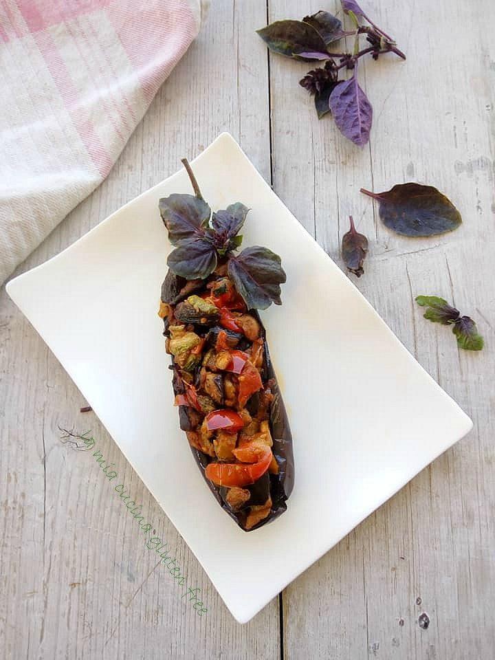 ratatuille di verdure della stagione estiva senza glutine