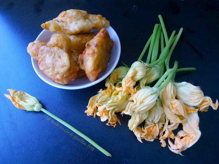 frittelle di fiori di zucca senza glutine