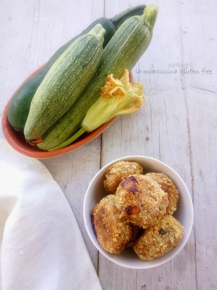 polpette di zucchine e speck al forno senza glutine