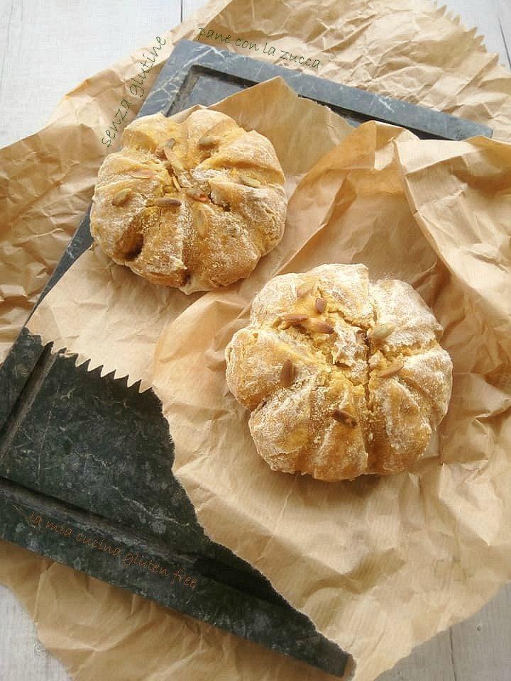 pane con la zucca senza glutine