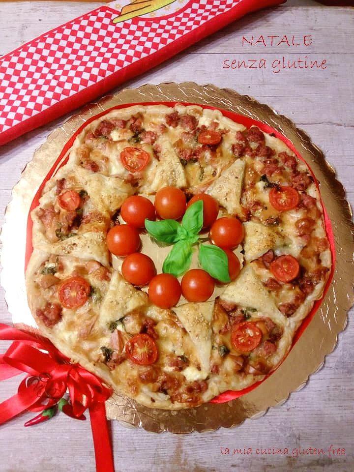 ghirlanda natalizia senza glutine con pomodorini salsiccia