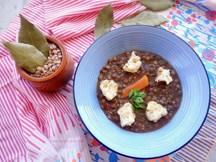zuppa di lenticchie con tarallo croccante gluten free