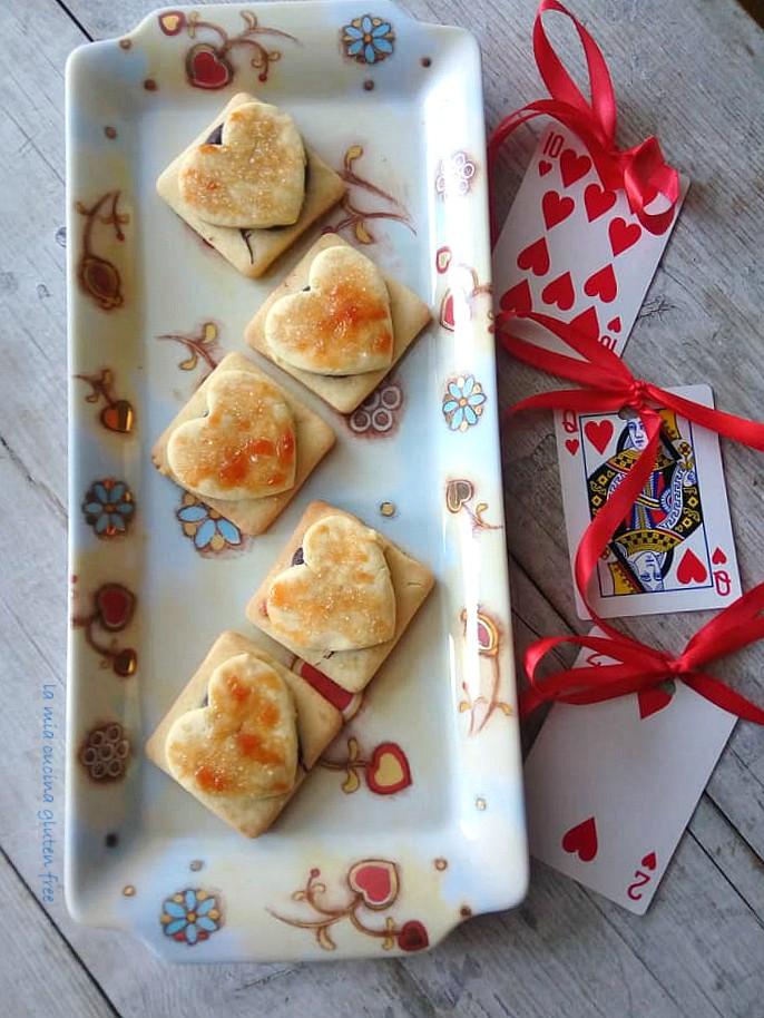 biscotti cuore di cioccolato senza glutine