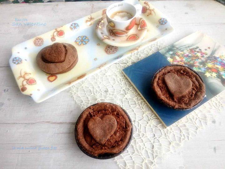 crostatine con cuore di cioccolato senza glutine