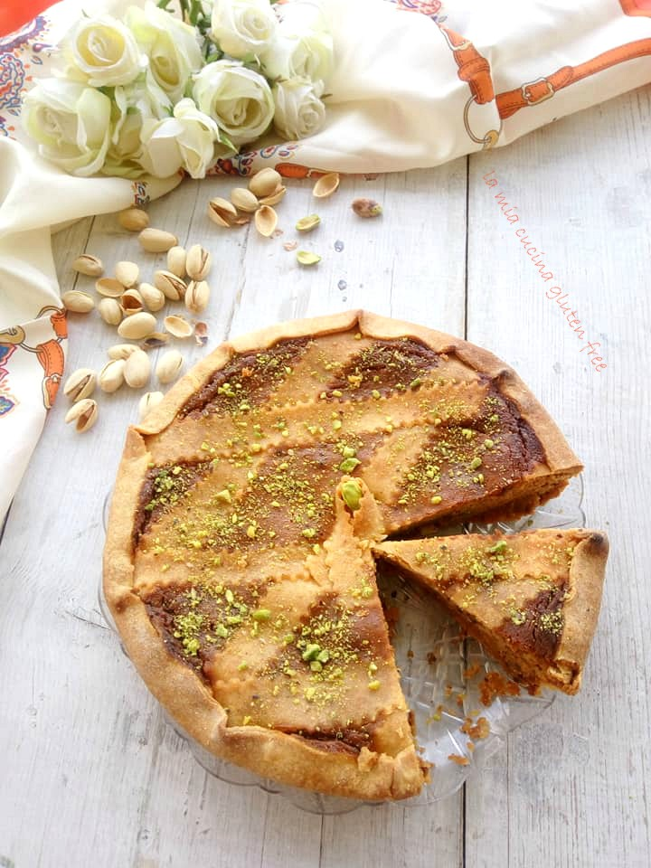 pastiera con pistacchio senza glutine