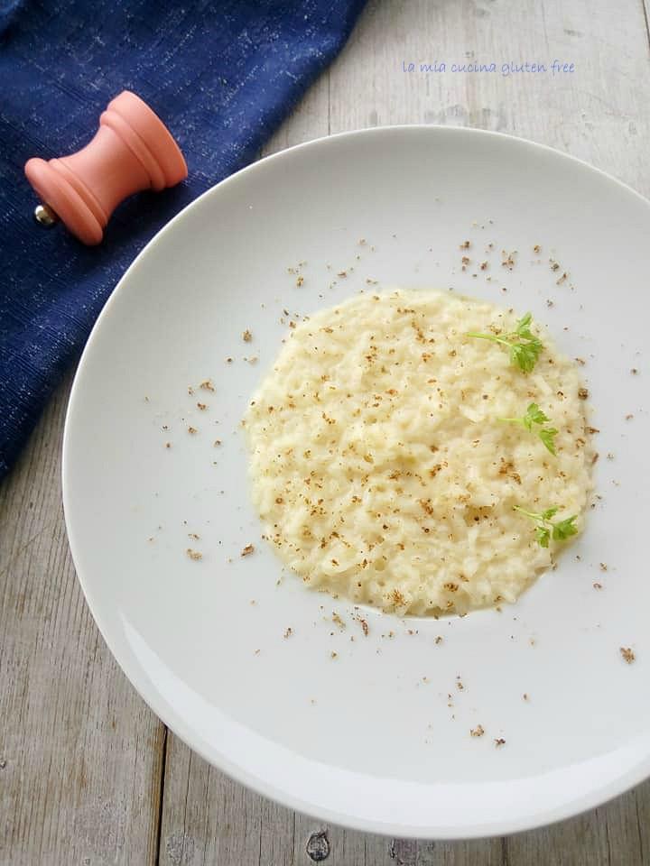 risotto cacio e pepe senza glutine