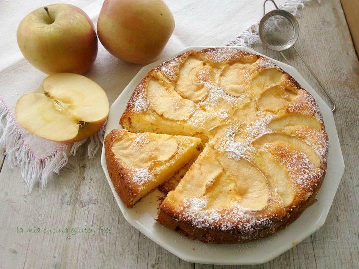 torta di mele e limone senza glutine con zeste di limone