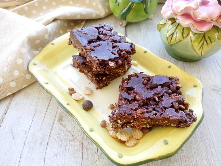 barrette ai cereali senza glutine con cioccolato
