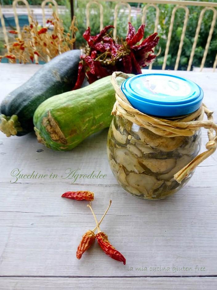 Zucchine in agrodolce sott'olio