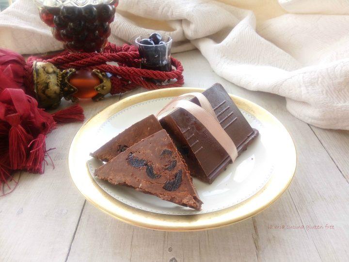 torrone cioccolato e amarene senza glutine