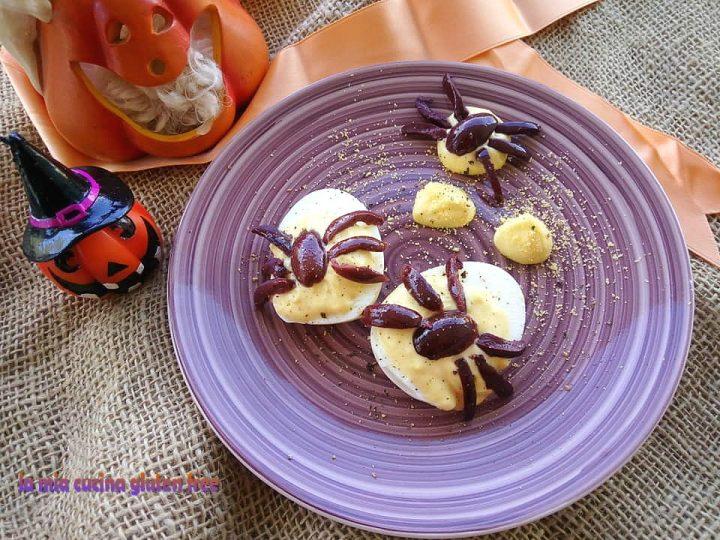 ragnetti di uova sode e olive senza glutine