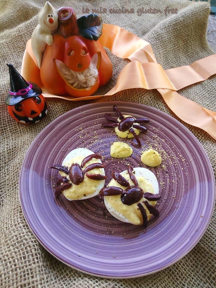 ragnetti di uova sode e olive