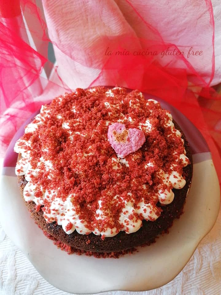 red velvet di san valentino senza glutine