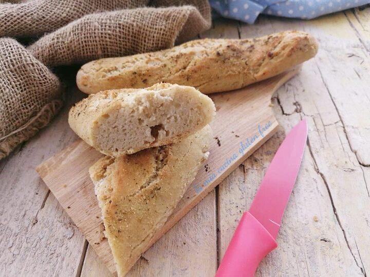 filoncini di pane senza glutine profumati all'origano