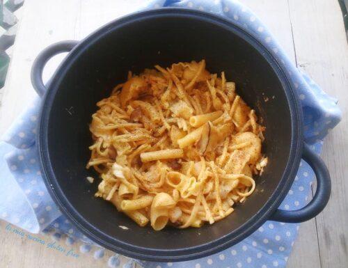 Pasta e patate provola e porcini