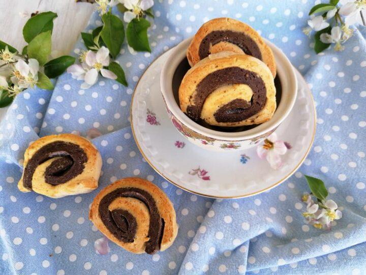 biscotti girelle senza glutine bigusto con cioccolato e vaniglia