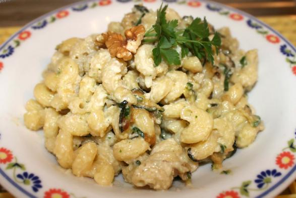 pasta con zucchine e pesto di noci