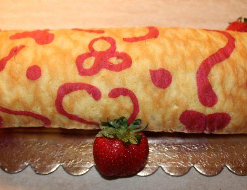 Rotolo decorato farcito alla frutta
