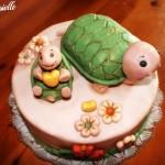 Torta tartarughe thun in pasta di zucchero