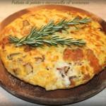 Frittata di patate e mozzarella al rosmarino