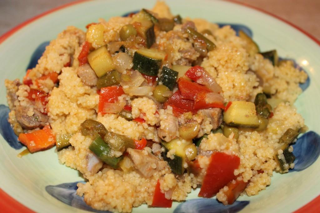 Cuscus (o couscous) di carne e verdure