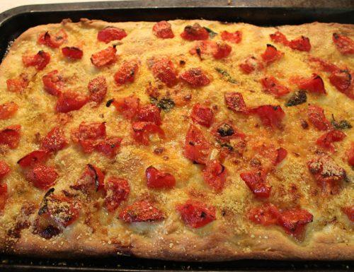 Pizza al pomodoro fatta in casa