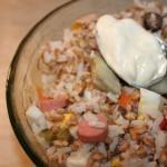 Insalata di riso e grano
