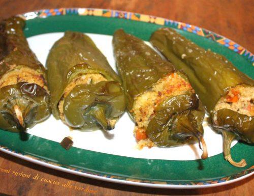 Peperoni ripieni di cuscus alle verdure