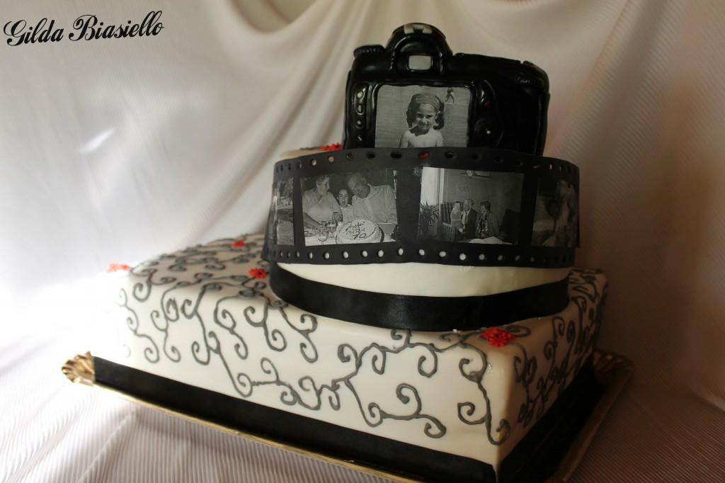 spesso Torta Nikon in pasta di zucchero | donnepasticcione LR33