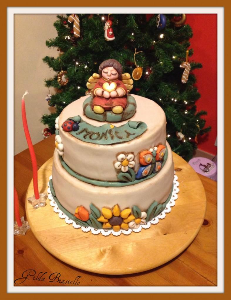 Torta thun compleanno 40 anni in pasta di zucchero
