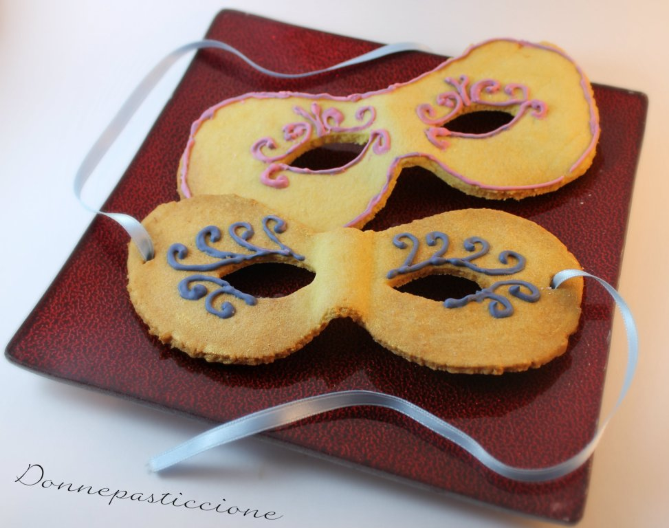 Maschere Decorate Di Carnevale Di Pasta Frolla