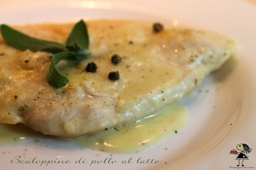 Scaloppine di pollo al latte e salvia