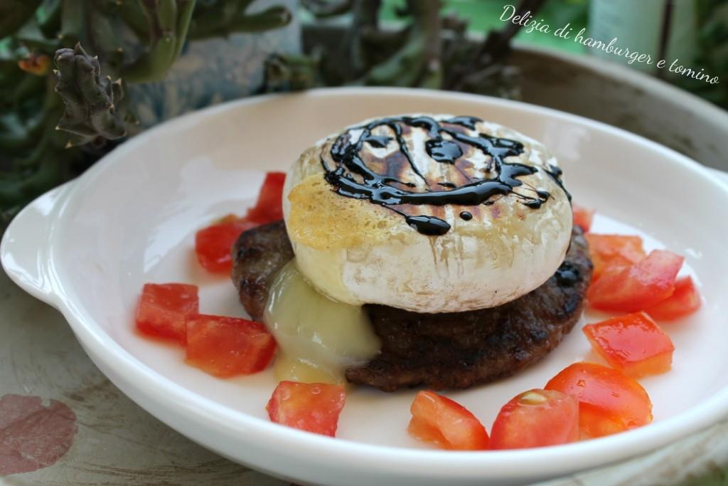 Delizia di hamburger e tomino