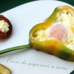 Fiori di peperoni e uova