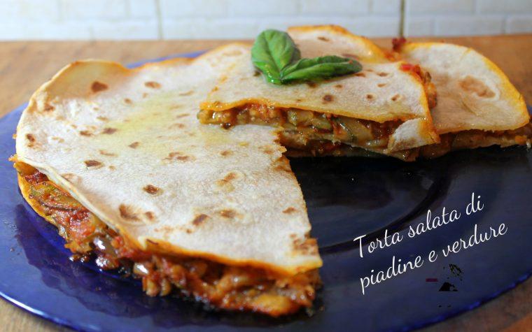 Torta salata di piadine e verdure