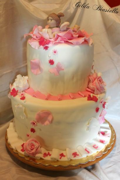 Super Torta battesimo bimba | donnepasticcione VH26