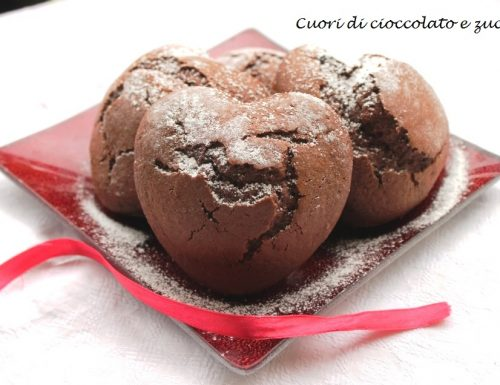 Cuori di cioccolato e zucca