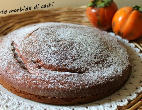 Torta morbida di cachi