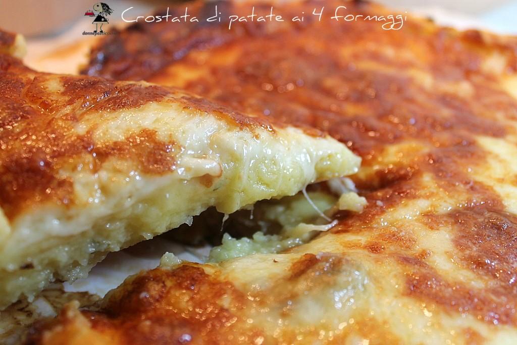 Crostata di patate ai 4 formaggi