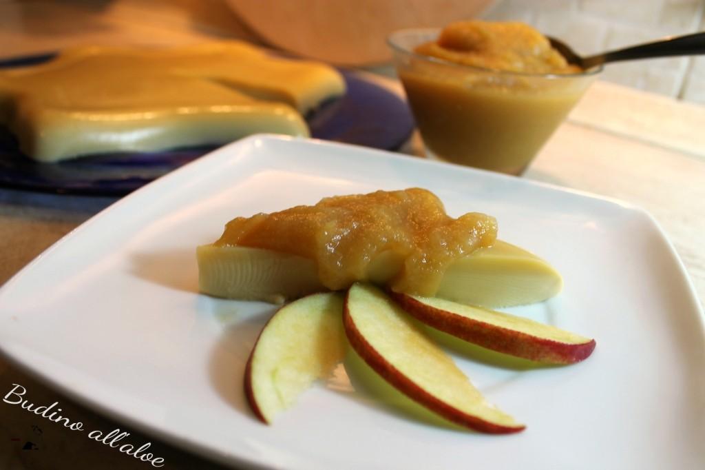 budino all'aloe con composta di mele